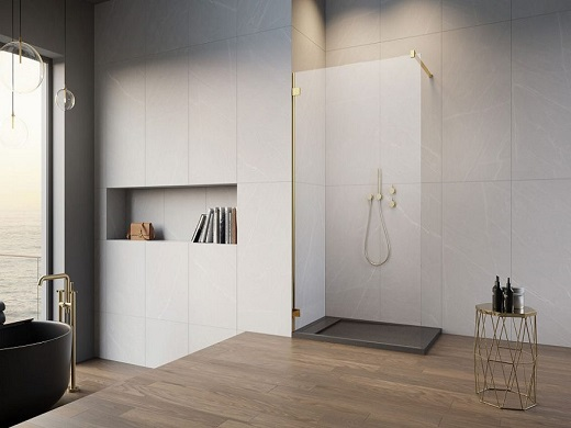 Radaway kabina Essenza Pro Gold Walk-in